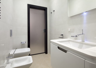 Bathroom Frosted Door