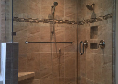 Glass Shower with shower head