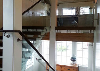 Glass Rail in Contemporary Home