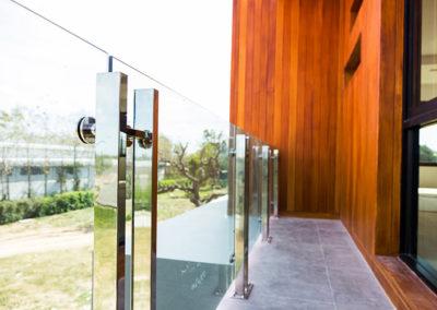 Glass Exterior Railing