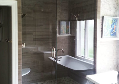 Glass Shower door and tub